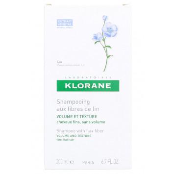 SHAMPOING AUX FIBRES DE LIN KLORANE 200 ML