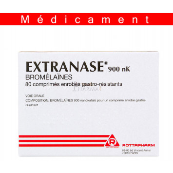 EXTRANASE 900 nK, comprimé enrobé gastro-résistant – 80 comprimés