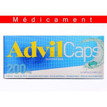 ADVILCAPS 200 mg, capsule molle – 16 capsules
