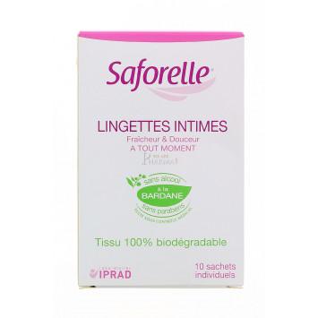 SAFORELLE LINGETTES INTIMES x 10
