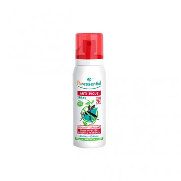 PURESSENTIEL Anti-Pique Spray Répulsif + Apaisant 7H Moustique Tigres 75ml