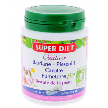 SUPER DIET QUATUOR BEAUTE DE LA PEAU 150 GELULES