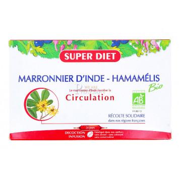 SUPER DIET MARRONNIER D'INDE HAMAMELIS BIO 20 AMPOULES