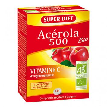 SUPER DIET Acérola BIO 500 - 24 comprimés