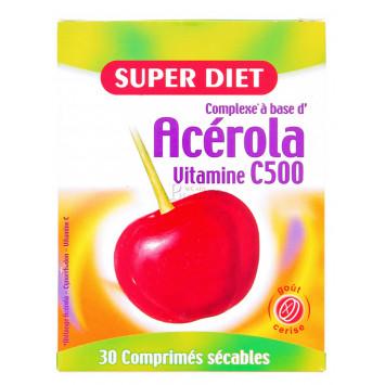 SUPER DIET ACEROLA VITAMINE C500 30 COMPRIMES
