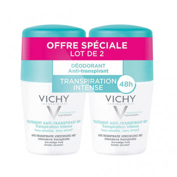 VICHY Déodorant Traitement Anti-Transpiration 48H Roll-On 2x50ml