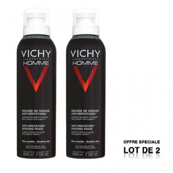 VICHY Homme Mousse Rasage Anti-Irritations 2x200ml