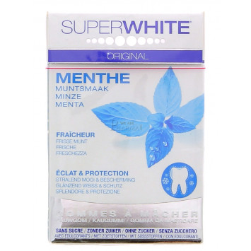 GOMMES A MACHER SUPERWHITE ORIGINAL MENTHE 25G