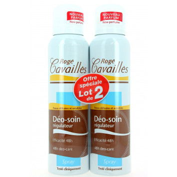 DEO-SOIN REGULATEUR SPRAY ROGE CAVAILLES 2x150ML