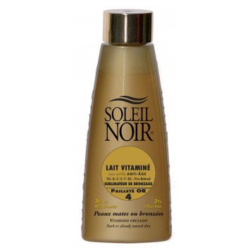 LAIT VITAMINE SOLEIL NOIR FILTRE 4 PAILLETE OR BRONZAGE INTENSE  150ML