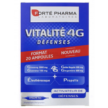 VITALITE 4G DEFENSES FORTE PHARMA AMPOULES