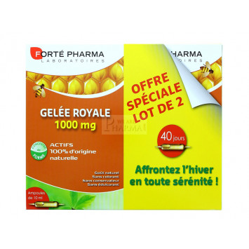 GELEE ROYALE 1000MG FORTE PHARMA AMPOULES x 2