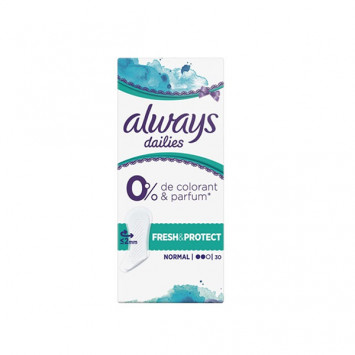 ALWAYS Dailies NORMAL 0% Colorant & Parfum 30 Protège Slips