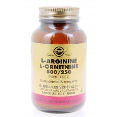 L-ARGININE L-ORNITHINE 500/250 FORME LIBRE SOLGAR 50 GELULES