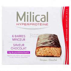 MILICAL HYPERPROTEINE BARRE MINCEUR CHOCOLAT x 6