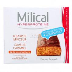 MILICAL HYPERPROTEINE BARRE MINCEUR CARAMEL x 6