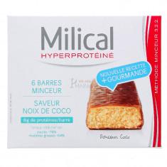 MILICAL HYPERPROTEINE BARRES MINCEUR NOIX DE COCO x 6