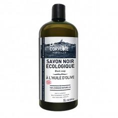 LA CORVETTE Savon Noir Écologique à l'Huile d'Olive 1L