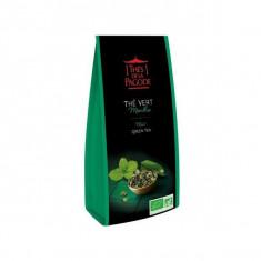 THES DE LA PAGODE - Thé Vert Menthe BIO - 100g