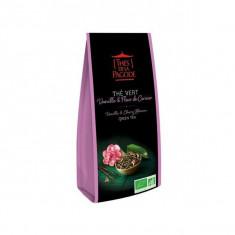 THES DE LA PAGODE - Thé Vert Vanille et Fleur de Cerisier BIO - 100g
