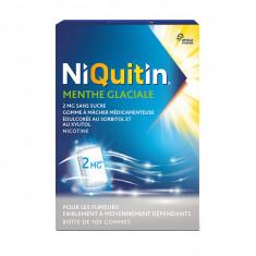 NIQUITIN 2 mg Menthe Glaciale, gomme à macher édulcoré – 100 comprimés