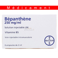 BEPANTHENE 250 mg/ml, solution injectable I.M. - 6 ampoules
