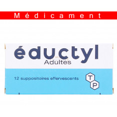 EDUCTYL ADULTES, suppositoire effervescent – 12 suppositoires