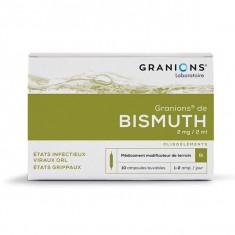GRANIONS DE BISMUTH 2 mg/2 ml, solution buvable en ampoule