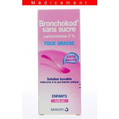 BRONCHOKOD SANS SUCRE ENFANTS 2 POUR CENT, solution buvable édulcorée à la saccharine sodique – 125ML