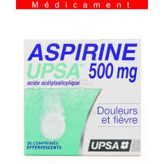 ASPIRINE UPSA 500 mg, comprimé effervescent – 20 comprimés