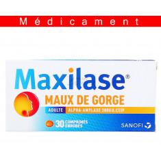 MAXILASE MAUX DE GORGE ALPHA-AMYLASE 3000 U. CEIP, comprimé enrobé – 30 comprimés