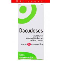 DACUDOSES, solution pour lavage ophtalmique en récipient unidose – 24 unidoses
