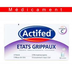 ACTIFED ETATS GRIPPAUX, poudre pour solution buvable en sachet-dose