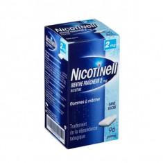 NICOTINELL MENTHE FRAICHEUR 2 mg SANS SUCRE, gomme à mâcher médicamenteuse – 96 gommes