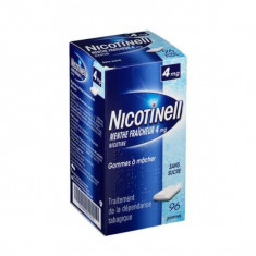NICOTINELL MENTHE FRAICHEUR 4 mg SANS SUCRE, gomme à mâcher médicamenteuse – 96 gommes