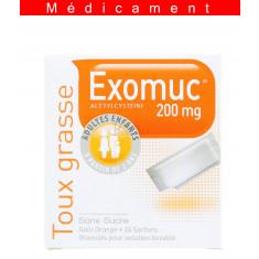 EXOMUC 200 mg, granulés pour solution buvable en sachet – 24 sachets