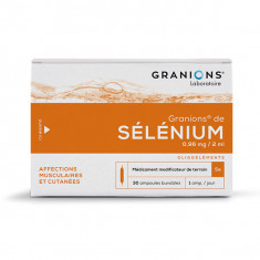 GRANIONS DE SELENIUM 0,96 mg/2 ml, suspension buvable – 30 ampoules