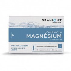 GRANIONS DE MAGNESIUM 3,82 mg/2 ml, solution buvable – 30 ampoules