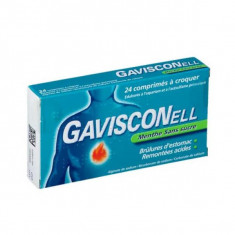 GAVISCONELL SANS SUCRE MENTHE, comprimé à croquer édulcoré à l'aspartam et à l'acésulfame potassique