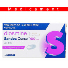 DIOSMINE SANDOZ CONSEIL 600 mg, comprimé pelliculé