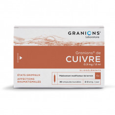 GRANIONS DE CUIVRE 0,3 mg/2 ml, solution buvable – 30 ampoules
