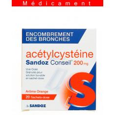 ACETYLCYSTEINE SANDOZ CONSEIL 200 mg, granulés pour solution buvable en sachet-dose