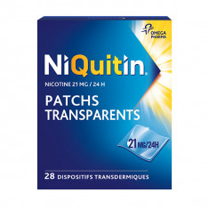 NIQUITIN 21 mg/24 heures Patchs, dispositif intradermique 28 sachets