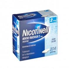 NICOTINELL MENTHE FRAICHEUR 4 mg SANS SUCRE, gomme à mâcher médicamenteuse – 24 gommes