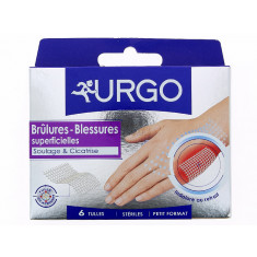 URGO BRULURES BLESSURES SUPERFICIELLES x 6