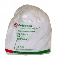 Cotopads Rectangles de Coton x200
