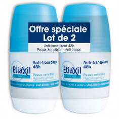 ETIAXIL Déodorant 48h Anti-Transpirant Roll-On 2x50ml