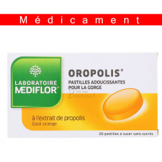OROPOLIS ORANGE, pastille à sucer – 20 pastilles
