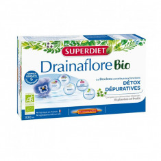 SUPER DIET Drainaflore BIO Détox Dépuratives - 20 Ampoules