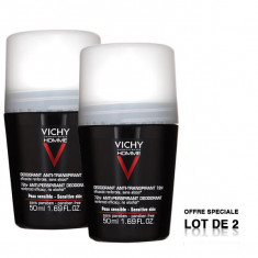 VICHY Homme Déodorant Anti-Transpirant 72H Roll-On 2x50ml